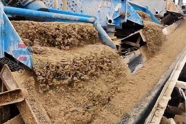 陕西时产500吨石粉洗砂机零排放工艺流程视频