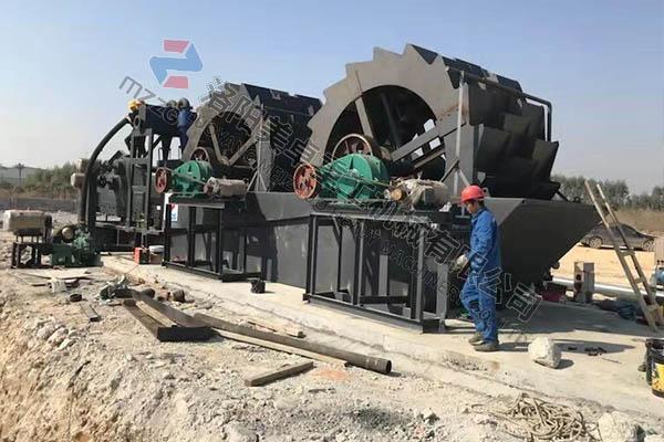 广西贵港3624双轮洗砂回收一体机投产