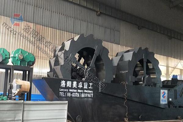 时产150吨双轮一体机发往河南驻马店
