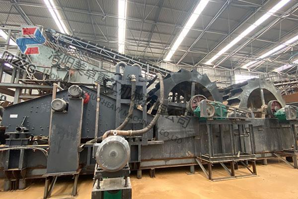 安徽合肥时产200吨洗砂机生产现场视频