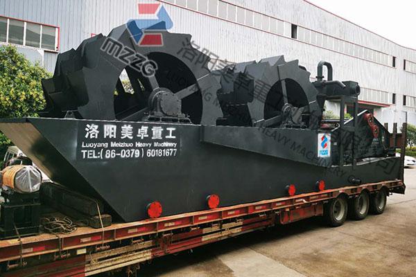 安徽淮北重型轮斗洗砂机发货现场