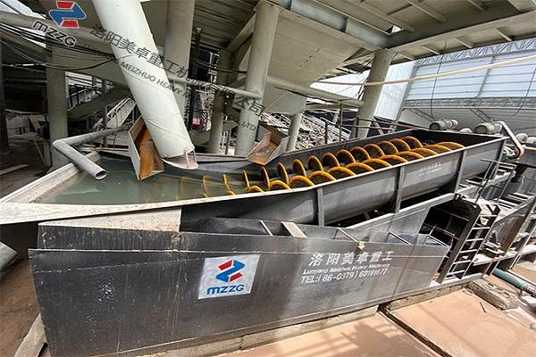 河南螺旋洗砂机生产视频