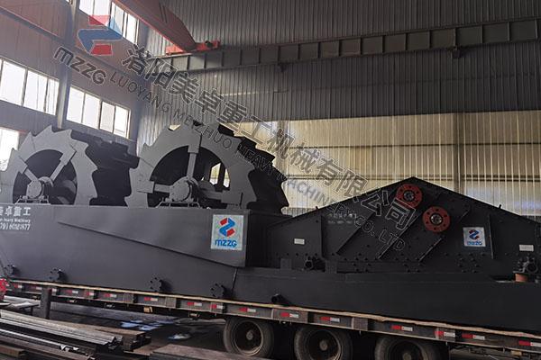 时产150吨轮斗式洗沙机南阳方城安装中