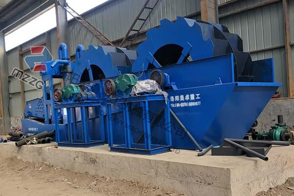 时产50-80吨小型洗砂机发往山西