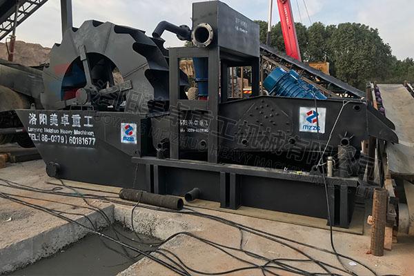 时产200吨新型洗砂机设备视频(江苏徐州现场)