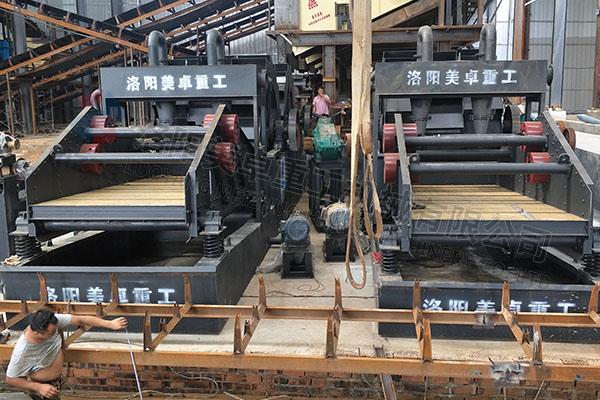 时产500吨大型洗沙机视频(河南驻马店洗砂现场)