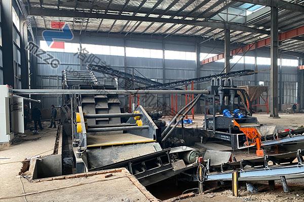 湖北荆州时产250吨铁尾矿洗砂机生产视频
