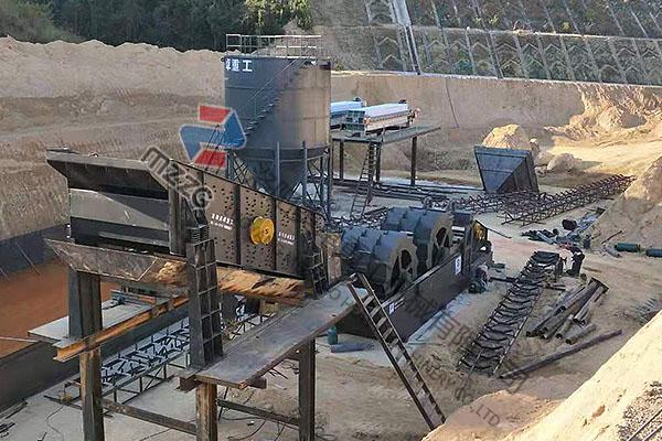 时产500吨洗砂机零排放生产线发往广东梅州