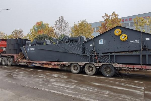 时产150吨-200吨轮斗洗砂机发往云南玉溪