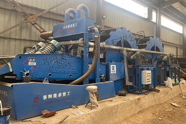 时产200吨水轮洗沙机视频(山西洗沙设备工作现场)