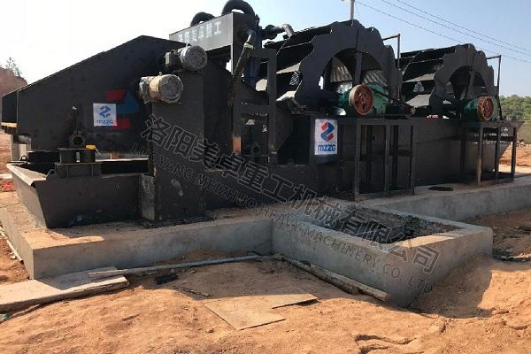 时产250吨洗沙生产线视频(安徽宣城洗沙机械工作现场)