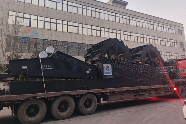 时产150吨洗砂脱水一体机发往河南禹州现场视频