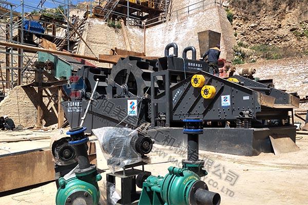 山西省运城市MZ3018双轮洗砂机安装调试现场