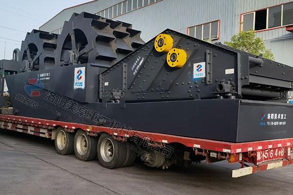 时产100吨-200吨石英砂洗砂机发往安徽宣城