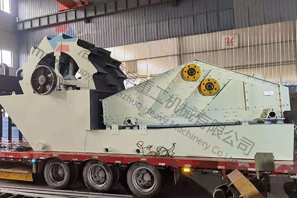 时产200吨山沙洗砂机械发往山东烟台